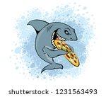 vector illustration of a shark... | Shutterstock .eps vector #1231563493