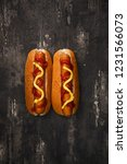 home made grilled hot dog with... | Shutterstock . vector #1231566073