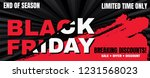 black friday sale banner layout ... | Shutterstock .eps vector #1231568023