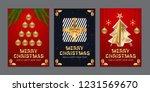 elegant merry christmas vector... | Shutterstock .eps vector #1231569670