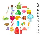 food business icons set.... | Shutterstock .eps vector #1231591243