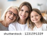 headshot portrait of three 3... | Shutterstock . vector #1231591339
