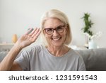 smiling middle aged woman... | Shutterstock . vector #1231591543