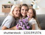 headshot portrait of happy... | Shutterstock . vector #1231591576