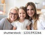 happy family of grandmother ... | Shutterstock . vector #1231592266