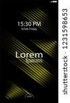 modern lock screen for mobile... | Shutterstock .eps vector #1231598653