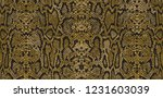 snake skin pattern and... | Shutterstock .eps vector #1231603039