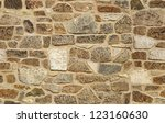 seamless ashlar old stone wall... | Shutterstock . vector #123160630