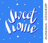 home sweet home typography... | Shutterstock .eps vector #1231618189