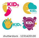 kids club with entertainments... | Shutterstock .eps vector #1231620130