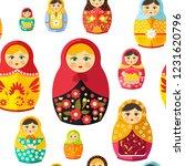 russian nesting doll ... | Shutterstock .eps vector #1231620796