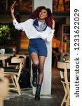 attractive african american... | Shutterstock . vector #1231622029