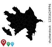 map of azerbaijan  high... | Shutterstock .eps vector #1231624996