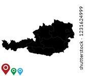 map of austria  high detailed ... | Shutterstock .eps vector #1231624999