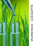 test tubes filled with clean... | Shutterstock . vector #123162976