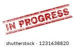 in progress seal print with... | Shutterstock .eps vector #1231638820