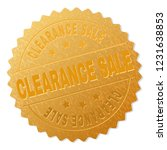 clearance sale gold stamp... | Shutterstock .eps vector #1231638853