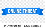 online threat text on a ribbon. ... | Shutterstock .eps vector #1231638886