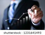 businessman plan the growth.... | Shutterstock . vector #1231641493