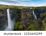 gorgeous haifoss waterfall in s ... | Shutterstock . vector #1231643299