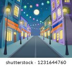 road over the street with... | Shutterstock .eps vector #1231644760