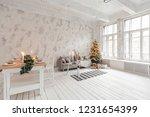 loft style apartment  large...   Shutterstock . vector #1231654399