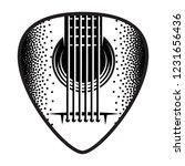 stylish monochrome plectrum for ... | Shutterstock .eps vector #1231656436