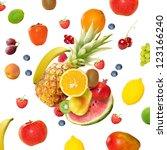 fresh various fruits | Shutterstock . vector #123166240