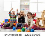 kids playing in the room | Shutterstock . vector #123166408