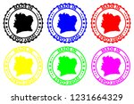 made in ivory coast   rubber... | Shutterstock .eps vector #1231664329