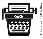old typewriter icon. simple... | Shutterstock .eps vector #1231664896