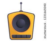 one speaker radio icon. cartoon ...