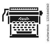 office typewriter icon. simple... | Shutterstock .eps vector #1231666060