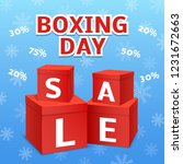 boxing day final sale concept... | Shutterstock .eps vector #1231672663