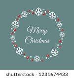 christmas wreath greeting card...   Shutterstock .eps vector #1231674433