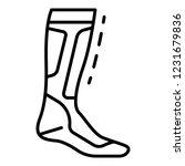 hockey sock icon. outline... | Shutterstock .eps vector #1231679836
