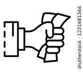 hand bribery banknote icon.... | Shutterstock .eps vector #1231681366