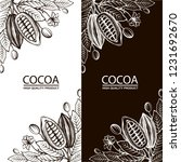 collection of cocoa packages... | Shutterstock .eps vector #1231692670