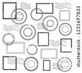 vintage postmark cachet  postal ... | Shutterstock . vector #1231697833