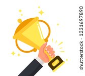 successful competitive winner... | Shutterstock . vector #1231697890