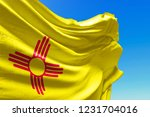 new mexico flag waving  united... | Shutterstock . vector #1231704016