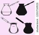 coffee pot  vector silhouette... | Shutterstock .eps vector #1231710523