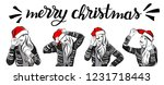 merry christmas and happy new... | Shutterstock .eps vector #1231718443