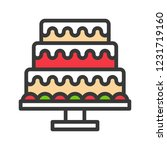 christmas cake for party icon... | Shutterstock .eps vector #1231719160