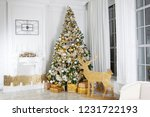 christmas room decoration.... | Shutterstock . vector #1231722193