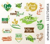 bio  eco products label... | Shutterstock .eps vector #1231726816