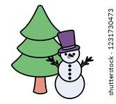 cartoon snowman design   Shutterstock .eps vector #1231730473