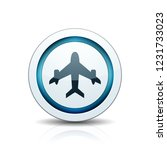 airplane button illustration | Shutterstock .eps vector #1231733023