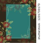 floral banners with . can be... | Shutterstock . vector #1231733173