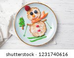 pancakes in the shape of...   Shutterstock . vector #1231740616